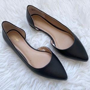 Mossimo Black D'Orsay Pointed Toe Flats